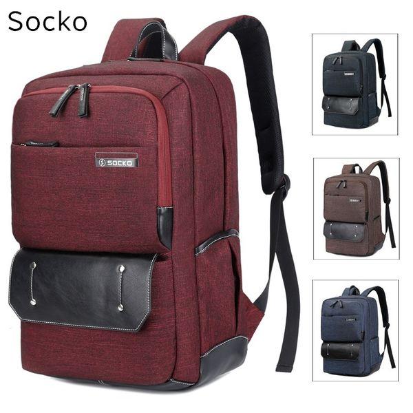 "2018 New SOCKO Brand Backpack For Laptop 15"",15.6 "",17 inch,17.3"" NotBag,Packsack,Travel,School Bag,Free Shipping 676"