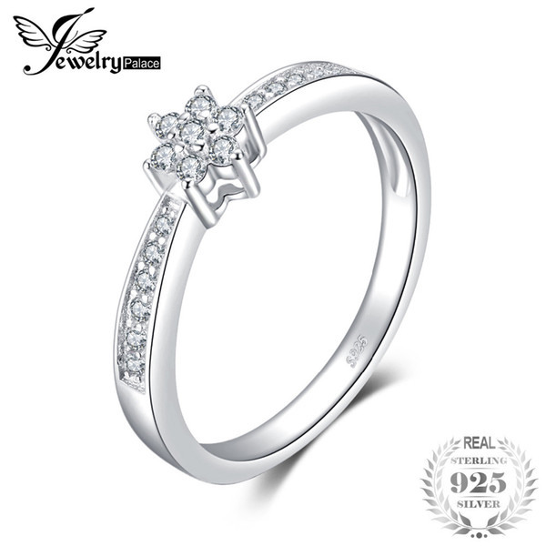 JewelryPalace Classic Fashion Engagement Ring 925 Sterling Silver Jewelry Birthday Present For Girlfriend Fine Gift For Women Y18102610