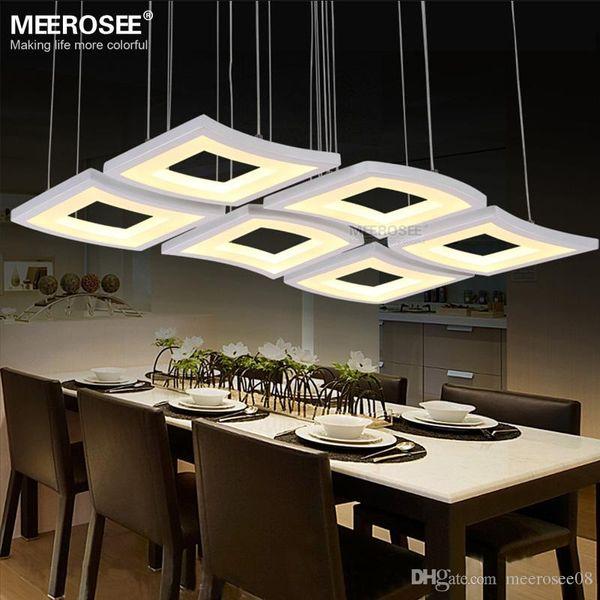 Moderne LED Pendelleuchte Welle Acryl Lüster Luminaria Schlafzimmer Lampe Hängen Suspension Anhänger Küche wohnkultur Lighitng