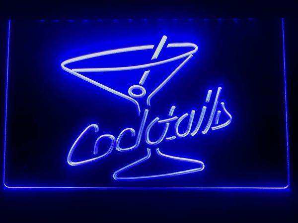 I522b- Cocktails Rum Wine Lounge Bar Pub LED Neon Light Sign