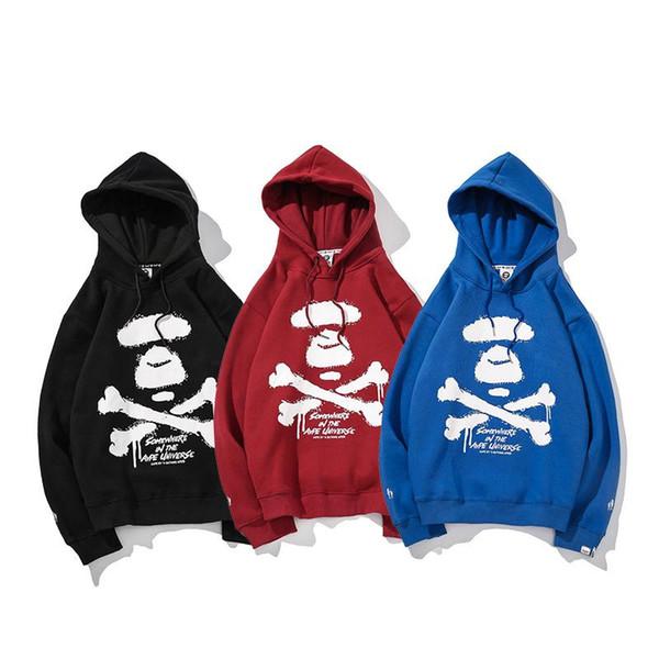 Skeleton Bone Caps Cachemire Sweater Étudiants Amoureux et Hommes Femmes Noir Vin Rouge Bleu 2018 Nouveaux Vêtements Automne Hiver