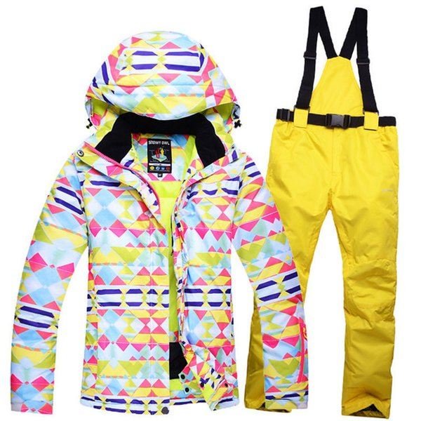 2018 Woman Cheap Snow Jackets Ladies Ski suit sets Female Snowboarding clothing outdoor sports Costumes Jacket pant send Russia