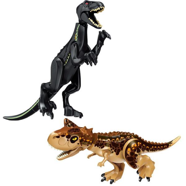 Legoingly Jurassic Carnotaurus Toys Blocks Brinquedo Dinossauros Polar Bear Building Blocks Set Educational Toys for Children