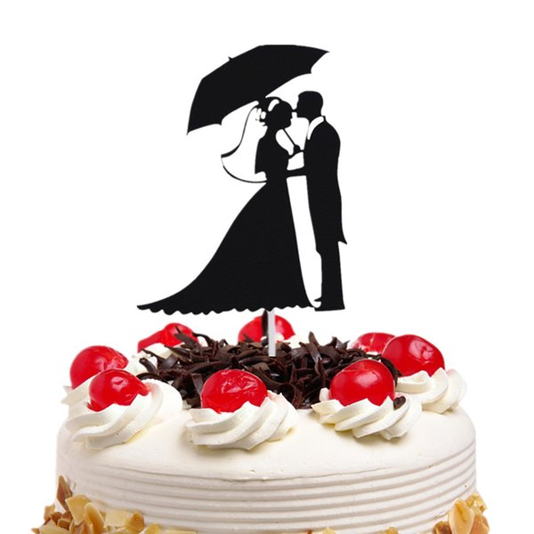 20pc/lot Cake Toppers Flags Umbrella Mr & Mrs Kiss Love Kids Birthday Cupcake Topper Wedding Bride Groom Party Baking DIY Xmas