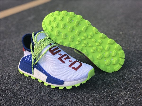 Rot PW HU Box Williams Mit NERD Damen Authentic Blau Laufschuhe Pharrell NMD Sport Originals Herren Sneakers Von Weiß 2018 Großhandel Top EE6283 CREME 0nwkOP