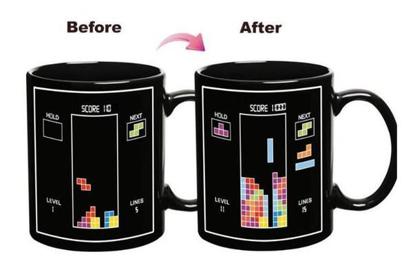 300ml batterie tasse magique énergie positive couleur changement tasse en céramique décoloration café thé thé tasses de lait nouveauté cadeaux gros DHL gratuit BH39