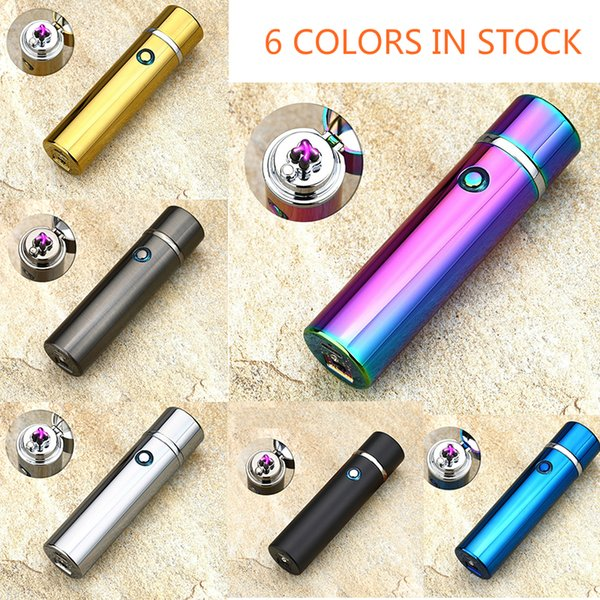 Electric Lighter USB Rechargeable Plasma Pulse Arc Lighter Windproof Flameless SplashproofRainbow Dual Arc Lighters for BBQ Camping Cigars