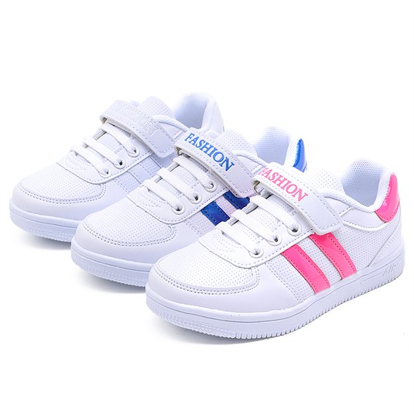 best selling 2018 kids casual shoes hot fashion children shoes in white color high quality with free shipping