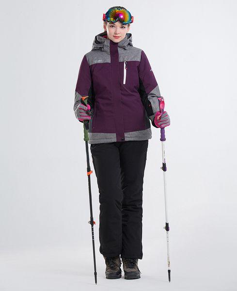 2018 LANLAKA Women Ski Suit Skiing Jacket Pant Windproof Waterproof Outdoor Sport Wear Super Warm Clothing Trouser Female Suit