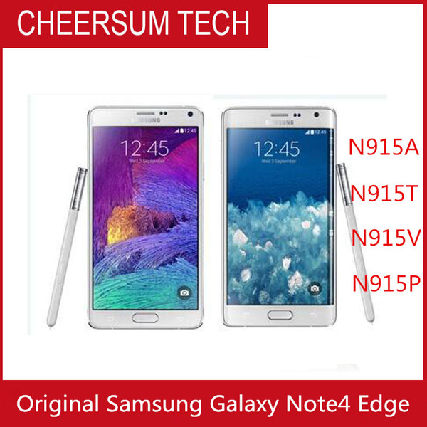 Überholter Samsung Galaxy Note 4 Rand N915A N915T N915P N915V N915F entriegelte Handy 3GB / 32GB 5,6 Zoll Multi-Touch 16MP-Handy