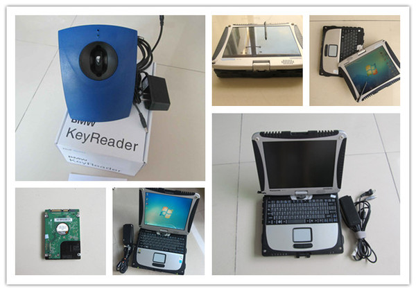 car key programming tools auto key reader for bmw with laptop cf19 cf-19 toughbook touch screen full set ready to work