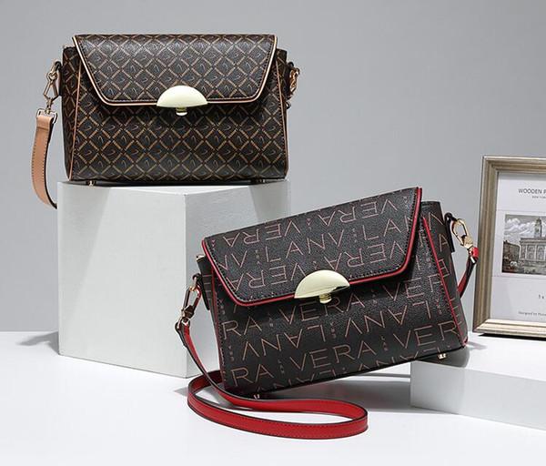 Cross-border sacos Europeus e Americanos feminino 2018 outono nova bolsa de ombro impressão pendurada tendência da moda PVC de meia-idade do sexo feminino saco