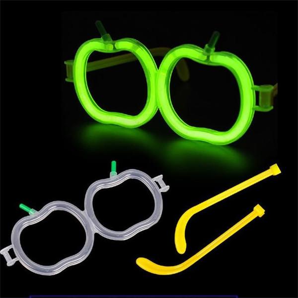Diy Glow Stick Glasses Love Shape Luminous Convenient Eyeglass Multi Function Accessories High Quality Plastic Creative Eyewear 0 6yg Jj Seashell