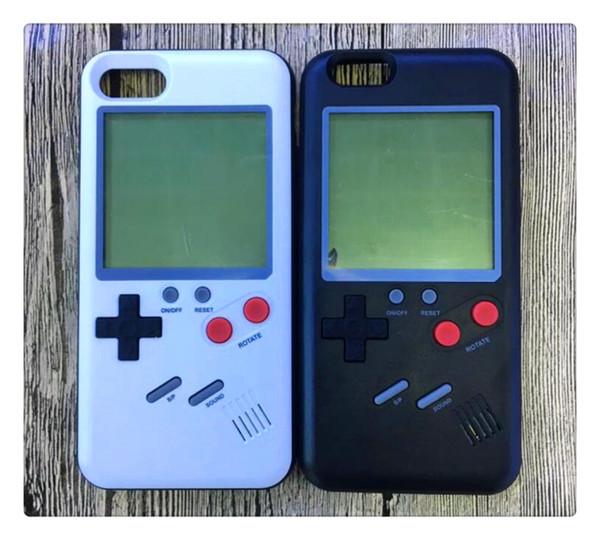 Console Tetris Gameboy Phone Case per iPhone 6 6s 7 8 6 Plus X Cover Retro Game Boy Soft TPU Silicone Phone Capa