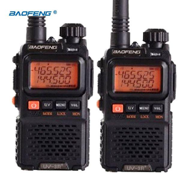 2PCS BaoFeng Pofung UV-3R plus long-range wireless Portable WalkieTalkie Dual band Professional FM transceiver 2 way radio