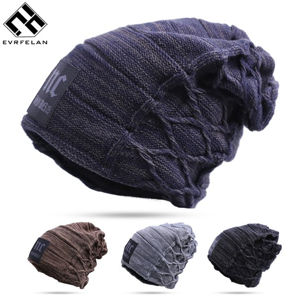 Newest Design!! Stylish Skullies Beanies Hat For Man Warm Winter Hat toucas gorros Top-Quailty Drop Shipping
