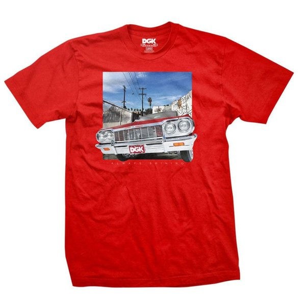 Details zu DGK Men's Shine T Shirt Red Tee T-Shirt Star Skate Streetwear Clothing Apparel