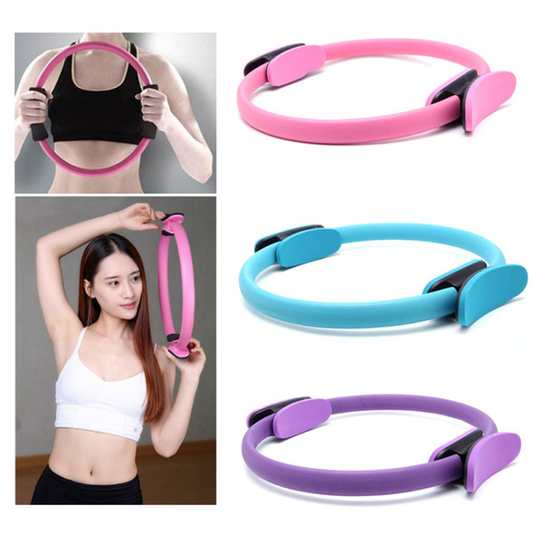 2018 Double grip Pilates circle yoga wheel gymnastics ring gym exercise back training tool home weight loss fitness equipment