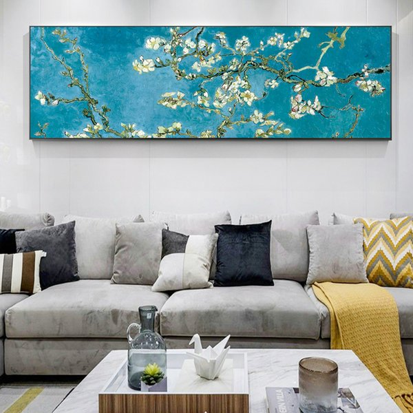 Fiori di mandorla Fiori Riproduzioni di quadri sul muro di Van Gogh Impressionista Wall Art Immagini su tela per soggiorno
