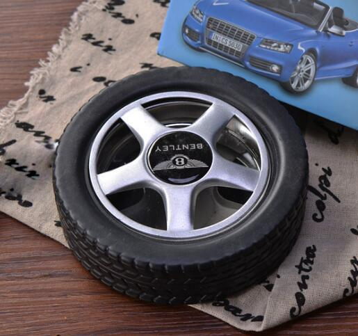 Fashion 1 Pcs Creative Rubber Tire Ashtray Portable Outdoor Travel Accessories Clean Ashtray Gift for Man