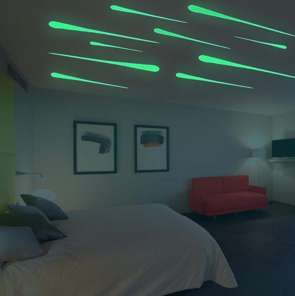 Luminous Shooting Star Wall Sticker 12pcs/Set Glow in Dark Sticker Living Home Decor for Kids Room OOA5285