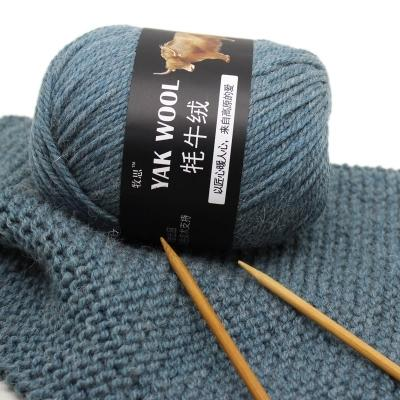 top popular 100g ball Fine Worsted Blended Crochet Yarn Knitting Sweater Scarf Yak Wool Yarn for Knitting free ship 2021