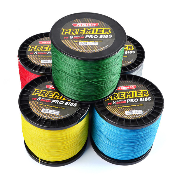 1000m Super Strong Japan Fishing lines 8R Strands PE Braided Wire 1000m 50lb~300lb Test Weight(kg) 22.6-136kg