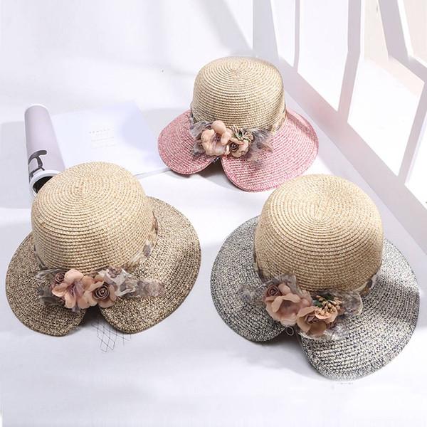 Compre Sombrero De Paja De Las Mujeres Sombrero De Ala Ancha De ...