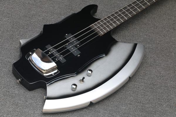 Personnalisez votre guitare basse 4 cordes Arvinmusic Hot Sale avec Axe Signiture et Shape, 3 micros ouverts, matériel Chrome, peut être personnalisé