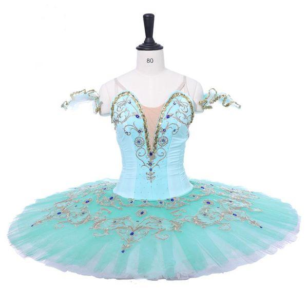 Adult Mint Green Professional Ballet Tutu Women Skirt Pale Green Nutcracker Classical Ballet Tutus Dress Dance Ballerina Costumes For Female
