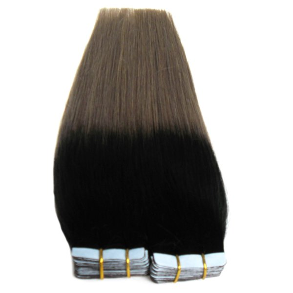 Apply Tape Adhesive Skin Weft Hair Ombre Tape In Human Hair Extensions Silver Grey Hair Extensions Blonde Tape Extensions