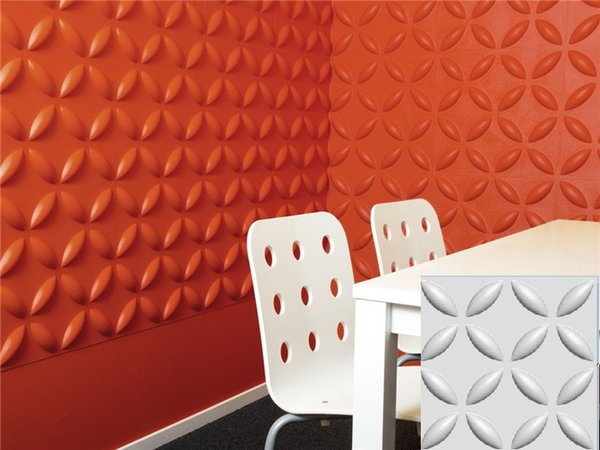 Castle decoration style More colorfull Waterproof Floral Designed Light-weight 3D PVC Wall/Ceilling Panels