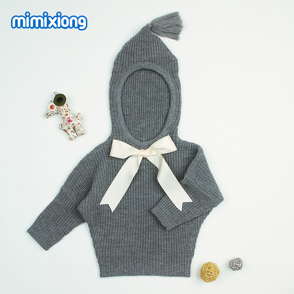 top popular Grey Hooded Designer Sweater for Toddler Girl Autumn Newborn Baby Sweaters Clothes Casual Infant Knitting Jumper Kids Cardigans 2021
