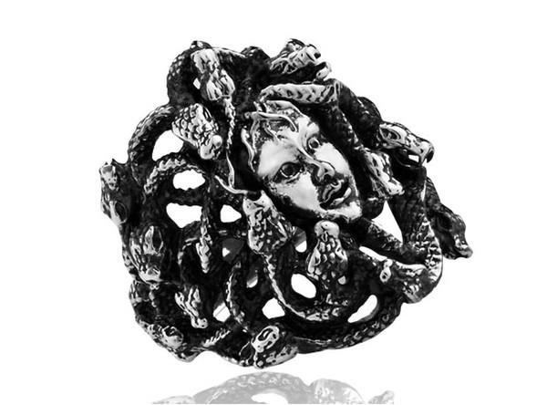 Griechischer Naga-Königin Medusa guter Titanstahlring MR18