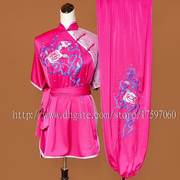 Cinese tradizionale Wushu uniforme abiti Kungfu vestito di arti marziali taolu vestito kimono di routine ricamato per uomo donna ragazzo ragazza bambini
