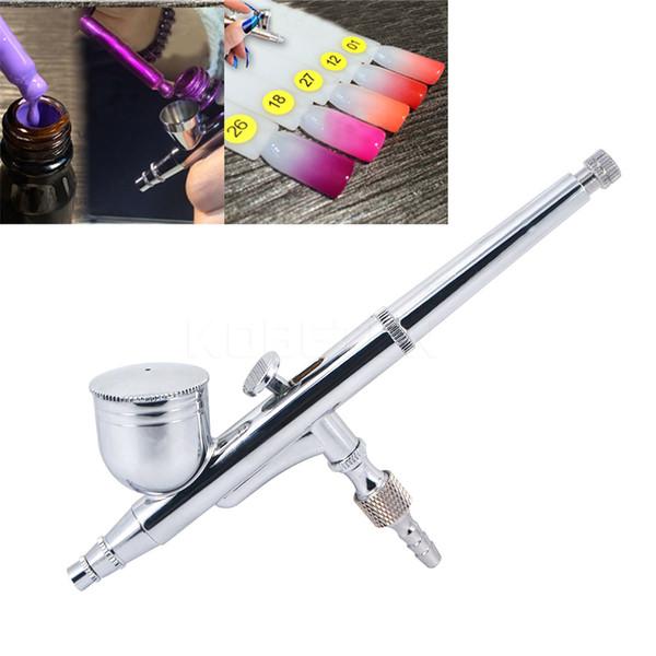 Wholesale-Dual-Action Aerografo 0,2 mm Spritzpistole für Nail Art / Body Tattoos Spray / Kuchen / Spielzeug Modelle Airbrush Kit für Art Craft Pinsel Geschenk