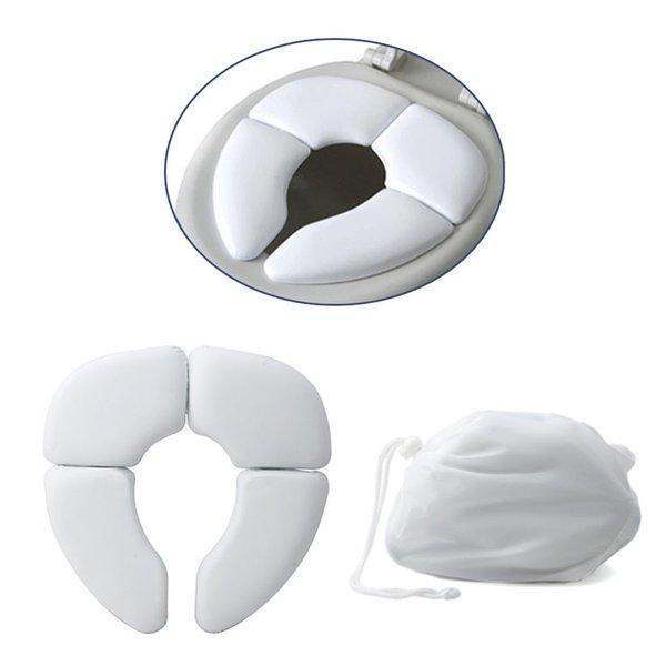 1Pc White Portable Folding Child Baby Toilet Seat Soft Potty C Pad Cushion Training