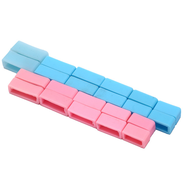 4PCS WatchBand Silicone Watch Strap Small uckle Loop Holder Locker Waterproof 14mm,16mm,18mm,20mm,22mm,24mm
