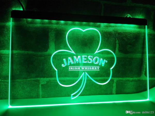 LE215g- Jameson Whiskey Shamrock LED Neon Light Sign