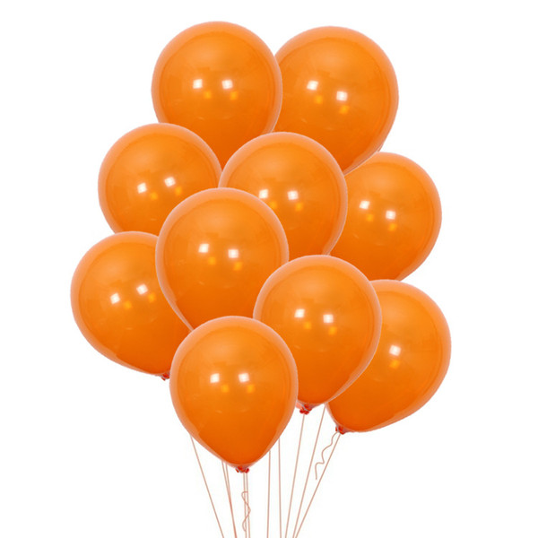 10inch Halloween Latex Balloons Blank Halloween Black Orange ballons Party Decoration Bar Gifts Halloween supplies