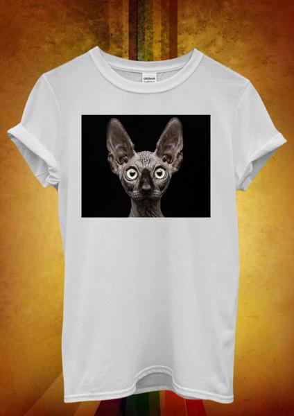 Sphinx Cat Hairless Kitten Meow Cool Men Women Unisex T Shirt Tank Top Vest 1028