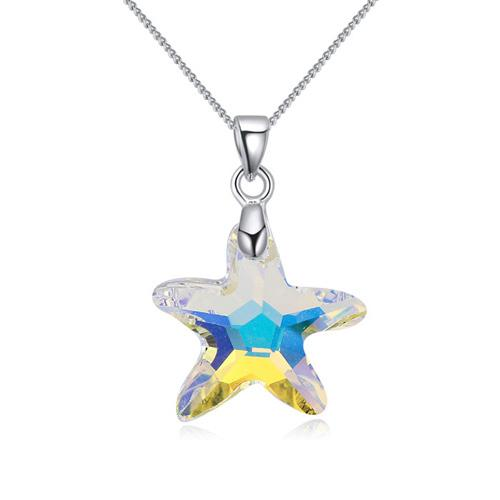 4 colors starfish crystal pendant necklace Crystals from Swarovski fashion jewelry for women girl Christmas gift 2018