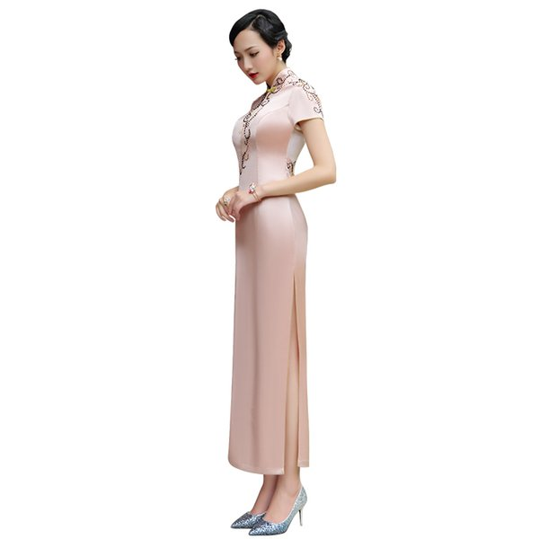 Doric 2018 new Chinese dress cheongsam dress slim slim improved cheongsam dress