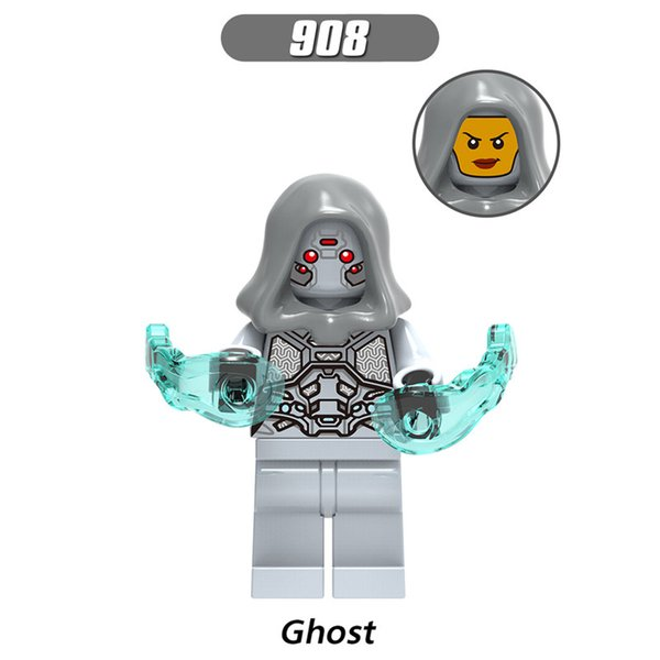 Marvel Ghost XH 908 10pcs Ant-Man and Wasp Ghost Captain Marvel Iron Man Zuri Baron Zemo Erik Selvig figure building blocks toy for children