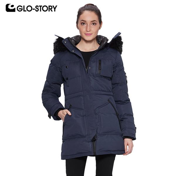 Оптовая женская 2018 флис лайнер толстые теплые зимние длинные парки женщина съемный мех с капюшоном верхняя одежда снег Куртки пальто 6426