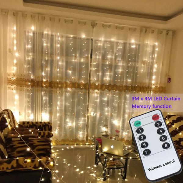 3x3 mt 304 led string lichterketten Hochzeit garten party led vorhang Decor Weihnachtsgirlanden vorhang lichterkette led lichter Dekoration
