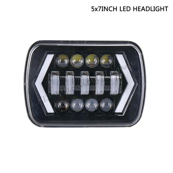 free shipping 2pc 5x7 6x7 45W led headlight bulb kit for truck offroad LJ classic heavy duty trailer mining