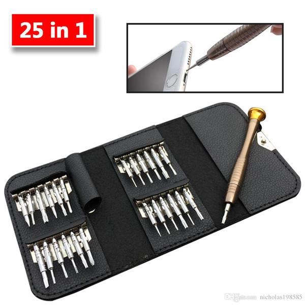 Multifonctionnel outil de réparation de téléphone portable Set 25 en 1 tournevis Kit de réparation de kit d'ouverture des outils pour iPhone iPad Samsung PC Camera