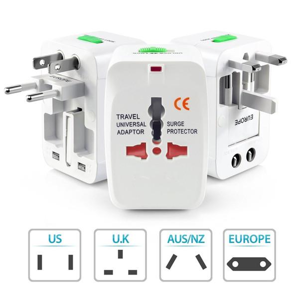 Universal International AU UK US EU Ac World Wide Travel Adaptor Multi-use Plug Power Adapter Converter Socket Wall Charger