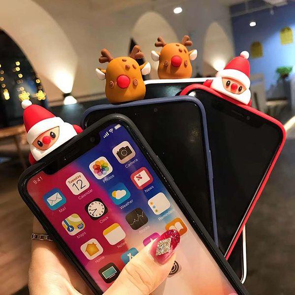 Nuova custodia per telefono natalizia per iPhone Xs Max XR X simpatica cover protettiva per custodia per iPhone6 7 8plusTPU